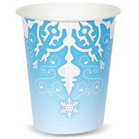 Snowflake Winter Wonderland 9 oz. Cups (8)
