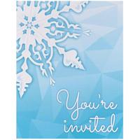 Snowflake Winter Wonderland Invitations (8)