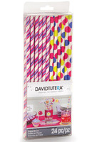 David Tutera Girls Party Paper Straws (24)