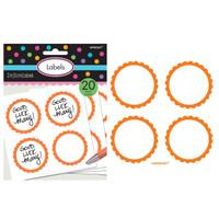 Scalloped Paper Labels- Orange Peel (20)