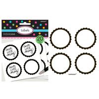 Scalloped Paper Labels- Black
