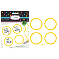 Scalloped Paper Labels- Yellow Sunshine (20)