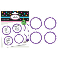 Scalloped Paper Labels- New Purple (20)