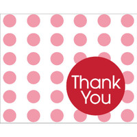 Classic Red Dots Thank You Notes (8)