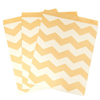 Kraft Chevron Paper Treat Bags (10)