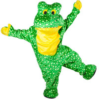 Deluxe Plush Frog Mascot Adult Costume