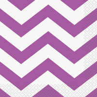 Pretty Purple Chevron Lunch Napkins (16)
