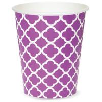 Quatrefoil Paper Cups - Pretty Purple (6)