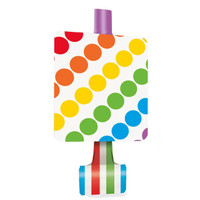 Rainbow Birthday Party Blowouts (8)