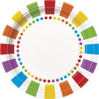 Rainbow Birthday Party Dinner Plates (8)