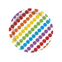 Rainbow Birthday Party Dessert Plates (8)