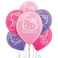 Hello Kitty Rainbow Latex Balloons (6)