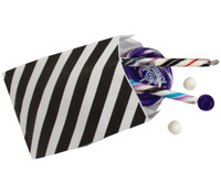 Black Striped Favor Bags