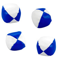 Blue and White Kick Balls