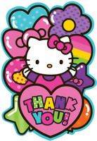 Hello Kitty Rainbow Thank You Notes (8)