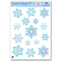 Snowflake Winter Clings