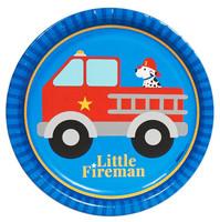 Little Fireman Dinner Plates (8)