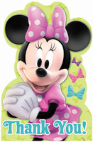 Disney Minnie Mouse Bowtique Thank You Notes