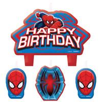 Spider-Man Birthday Candle Set