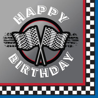 Racing Happy Birthday Lunch Napkins