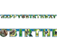 Jurassic World Jointed Happy Birthday Banner