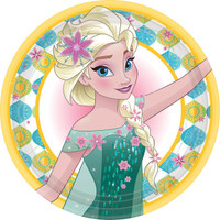Disney Frozen Fever Dinner Plates (8)