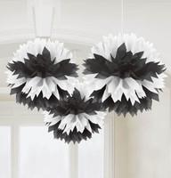 Black & White Fluffy Decorations
