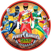 Power Rangers Dino Charge Dinner Plates (8)