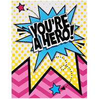 Superhero Girl Thank-You Notes