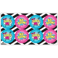 Superhero Girl Small Lollipop Sticker Sheet