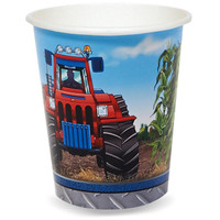 Farm Tractor 9 oz. Cups