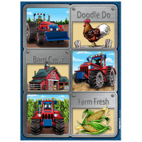 Farm Tractor Sticker Sheets