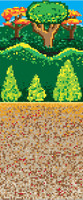 8-Bit Forest Backdrop