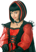 Vampire Girl Black/Red Wig