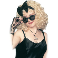 Pop Star 80's Wig w/Bow