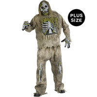 Skeleton Zombie Adult Plus Costume
