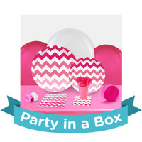 Chevron Pink Party in a Box