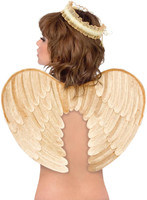 Gold  Velvet Angel Wings and Halo Accessory Kit (Adult)