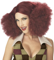 Disco Sensation (Burgundy) Adult Wig