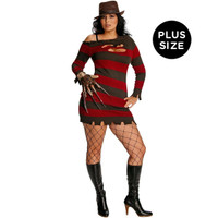 A Nightmare On Elm Street +AC0- Miss Krueger Adult Plus Costume