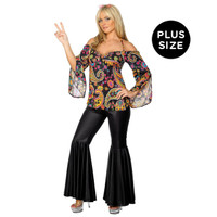 Hippie Adult Plus Costume