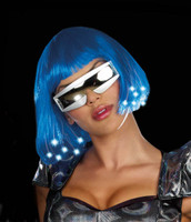 Intergalactic Light Up Blue Wig (Adult)