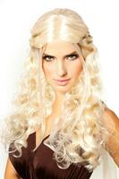 Dragon Princess Platinum Blonde With Braids Wig