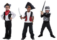 Deluxe 3-in-1 Dress Up Set: Cowboy, Knight & Sheriff