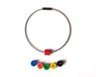 "100 Set of Cobra Flexible Cable-Type Key Ring 1"""