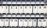 40 Number Tags for Key Boards