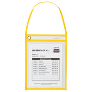 Shop Ticket Holder with Strap (15 Box) Yellow