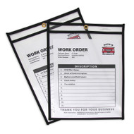 Shop Ticket Holders, Stitched, Both Sides Clear (25 Box)
