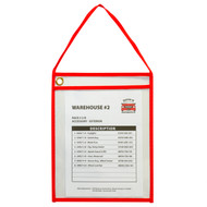 Hanging Shop Ticket Holder, Red Stitching (Box of 15)