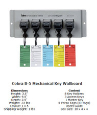 Cobra Mechanical WallBoards 5 Unit Cobra Key System